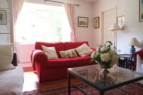 Two comfy sofas in the drawing room