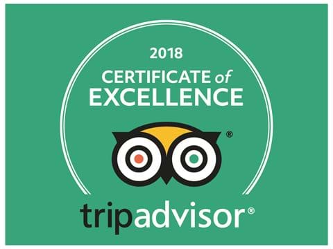 We have just been awarded the Trip Advisor Certificate of Excellence for 2018.