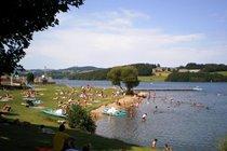 Go swimming, kayaking, paddle boarding or hire a pedalo - Lac de Villefranche de Panat only 12 minutes from La Caze Gites
