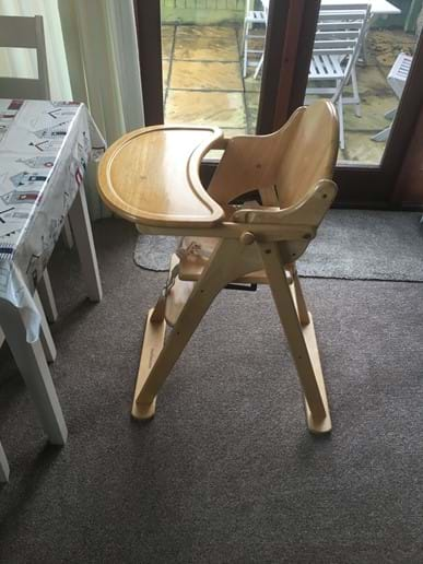 High chair - available on request
