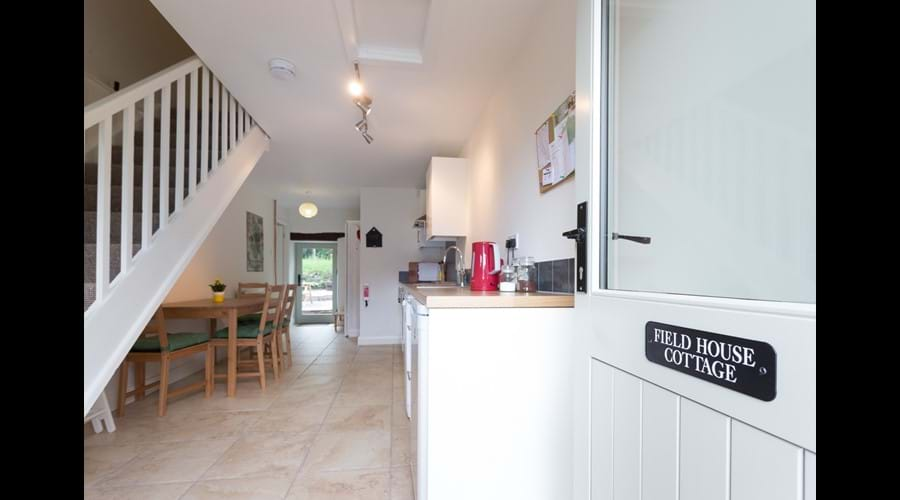 door opening onto kitchen
