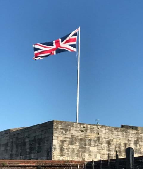 Flying the flag at Southsea Castle