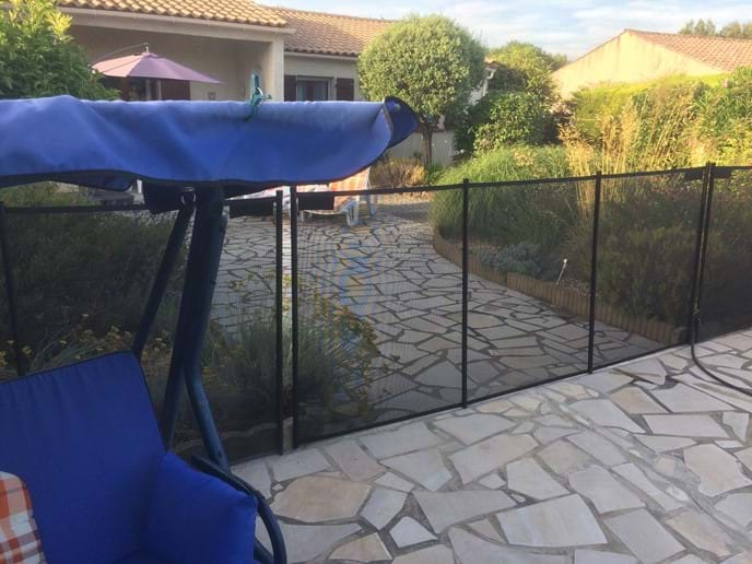 Pool fence - with centre section in place