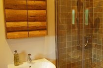 Separate shower enclosure in bathroom