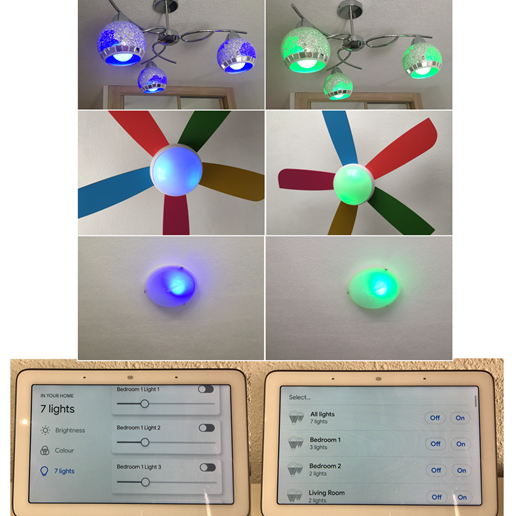 RGB Smart lights throughout-relaxing chromotherapy