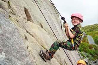 Rock climbing at the Accro