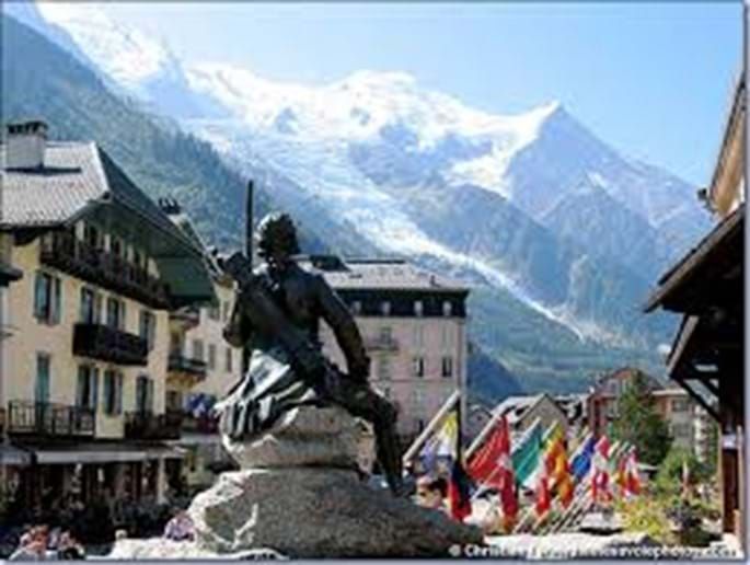 Chamonix town centre - have a coffee in the main square with spectacular views of Mont Blanc
