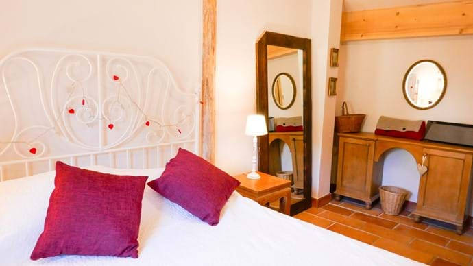 The main bedroom in the cabanon
