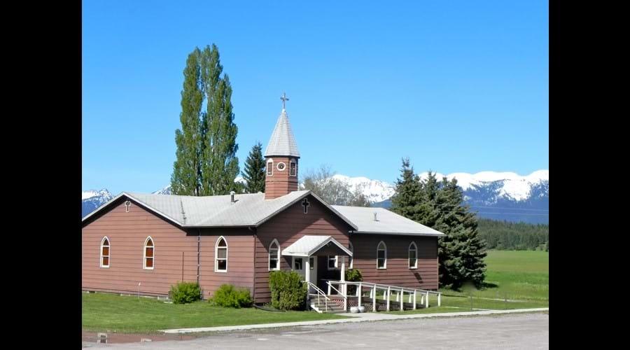 Historical Little Brown church, Bigfork