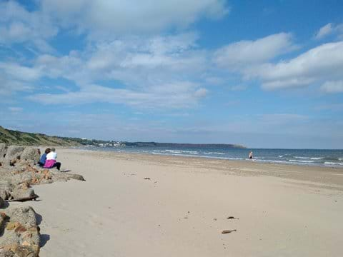 Filey Bay beach.