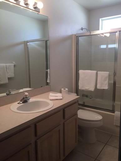 Master Bathroom with towel closet