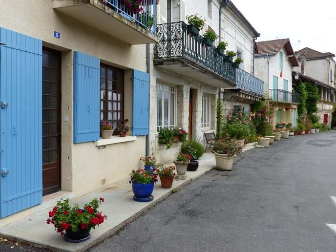 Traditional French Streets in Brantome