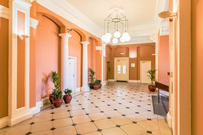 York holiday rental entrance lobby