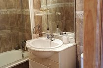 generously sized master bathroom, with shower, bath w.c. and bidet