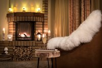 Enjoy the cozy atmosphere in front of the fireplace
