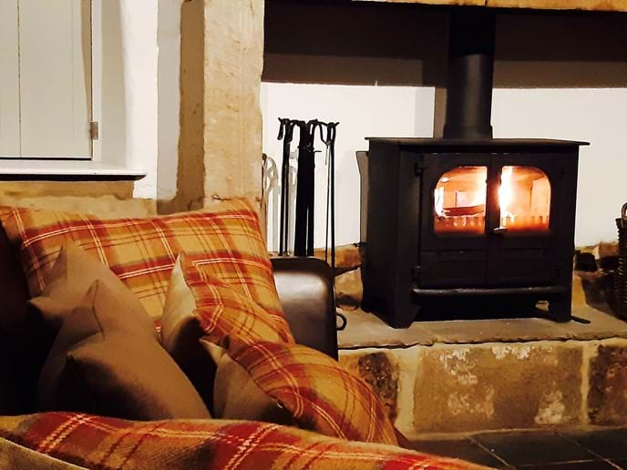...and light the log burner for a cosy night in
