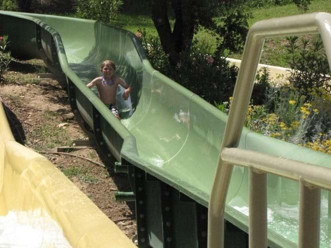 Pont Royal water slides.