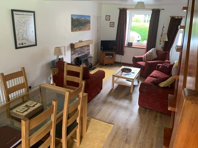 The lounge and dining area at Stybarrow Cottage
