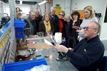 Glass blowing demonstration at Radleys in Shire Hill on 21 March 2019