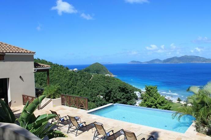 Plenty of pool deck to enjoy the vista