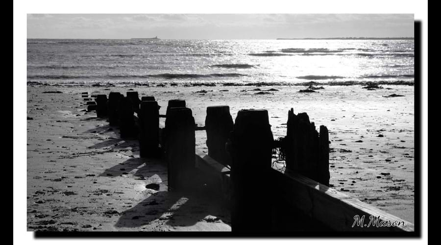 Winter sun on Alnmouth beach