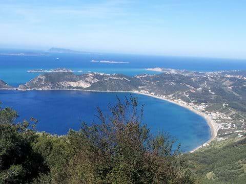 Arillas bay from Afionas