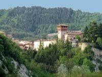 View of Bubbio from the villa