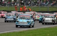 Car racing at Castle Combe race track
