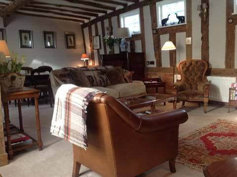 Grade 2 listed holiday cottage, country living room