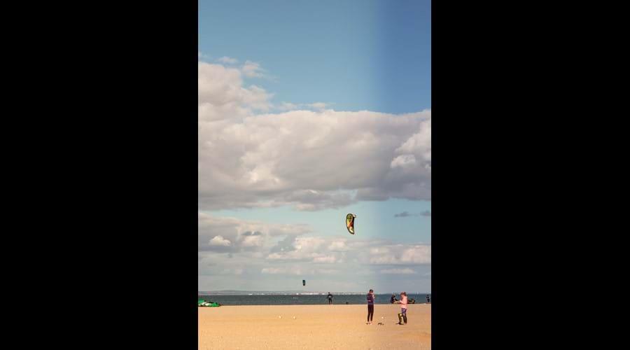 Para-surfing on Ryde beach