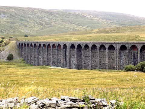 Nearby Ribblehead Viaduct.