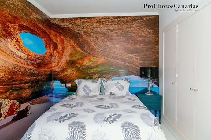 Cave bedroom with ensuite bathroom