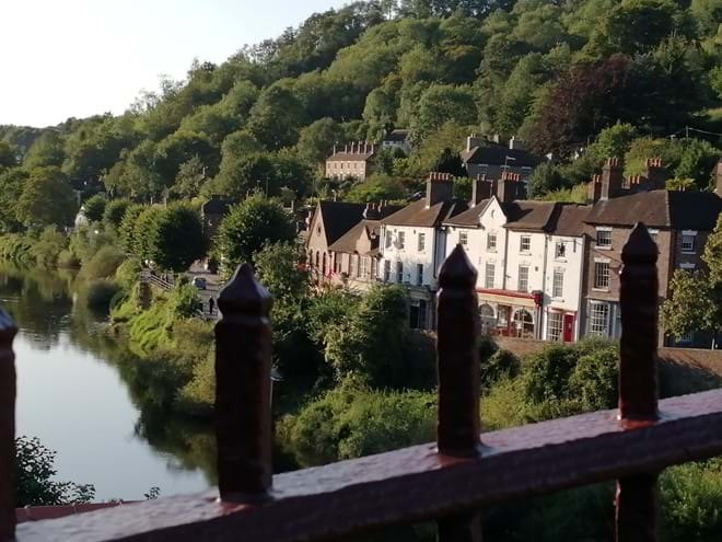 VIEW FROM THE IRON BRIDGE - IRONBRIDGE VIEW TOWNHOUSE IS THE FIRST ON THE RIGHT