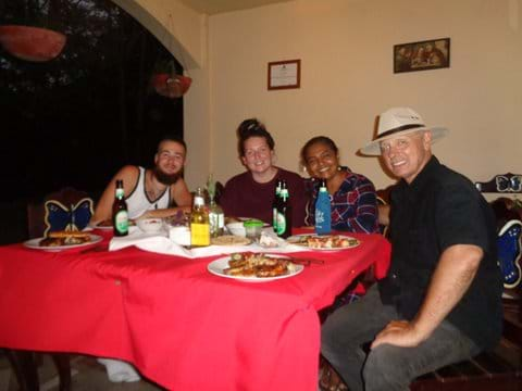 Special dinner for our volunteers from Ireland and our nighbor from Canada