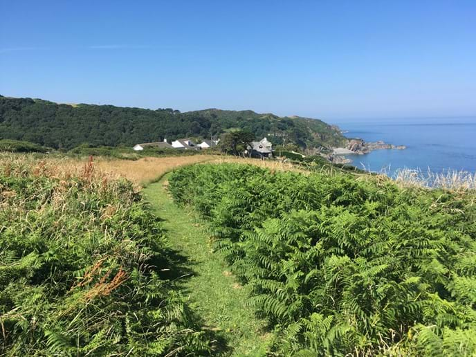 South West Coast Path above Lee Bay near Ilfracombe