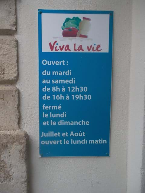 Ah, the French way. C
