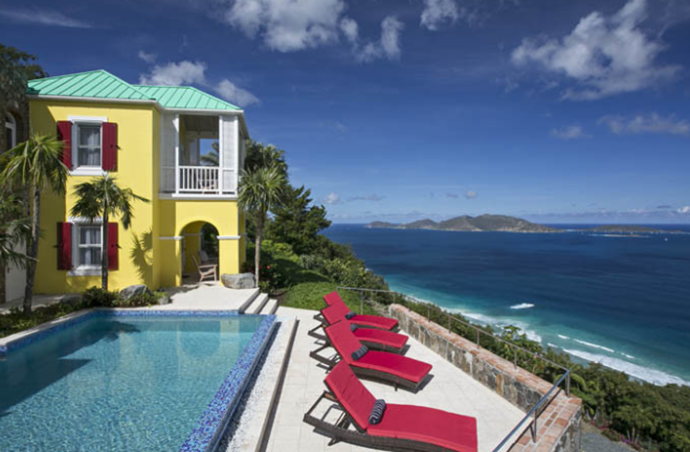 Views out to Jost Van Dyke, Sandy Cay, Sage Mountain