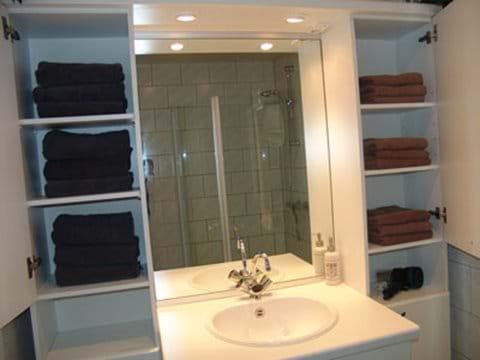 Well-stocked bathroom!