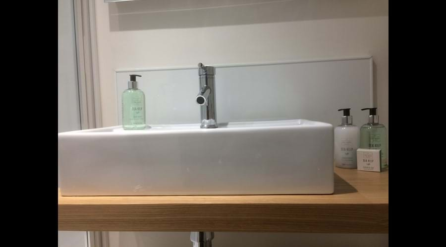 Sea Kelp toiletries provide a touch of luxury in the ensuite shower rooms.
