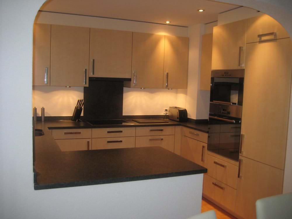 Modern Kitchen with fridge, freezer, dishwasher, coffee machine etc.