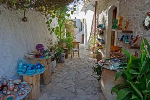Colorful Pottery in Margarites Village