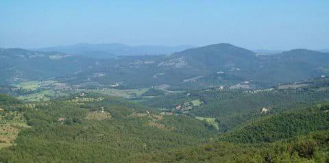 The Niccone Valley from La Casella