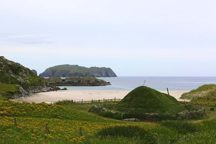 Bosta Beach and Iron Age house - Bernera