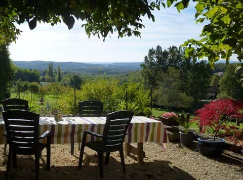 an idyllic setting for dinner looking over the Dordogne towards Sarlat