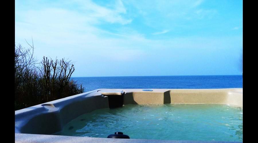 hot tub in the sun!