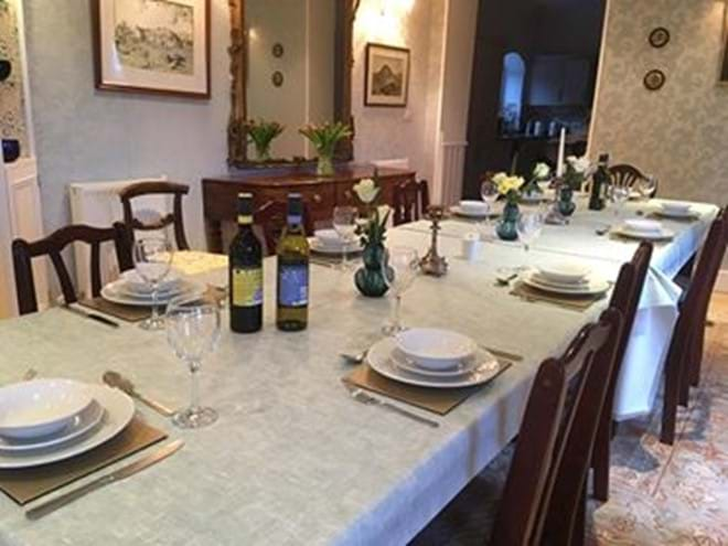 Dining room at Eisteddfa family holiday cottage Criccieth