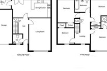 Floor plan of Motherwell Self Catering
