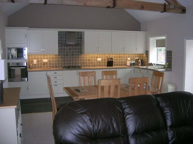 open plan dining and kichen