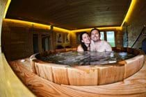 Guests enjoying the spa