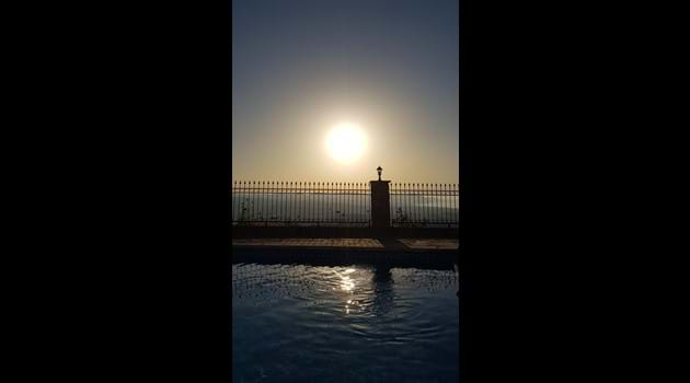Asteri pool with full moon